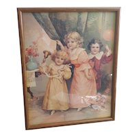Victorian Style children print printed in Korea