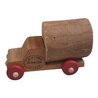 1970's California Redwood Logger toy truck