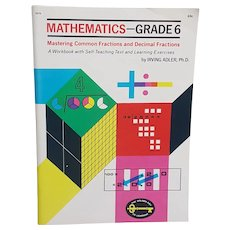 1969 Golden Press Mathematics Grade 6 unused workbook