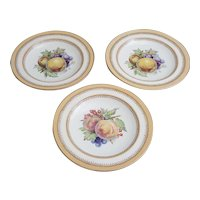 Crown Ducal AG Richardson peach and fruit plates set of three