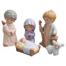 Homco Nativity set, Home Interiors Nativity set 5602