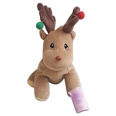 Precious Moments Tender Tails Plush Reindeer 1998 Enesco