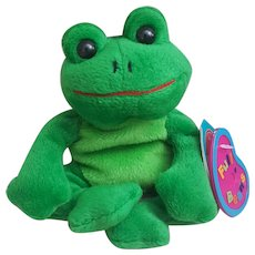 1999 Avon Birthstone Full O'Beans March Tad the Frog, Plush Frog