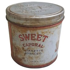 Sweet Caporal Cigarette Tobacco tin-Kinney Bros tobacco tin