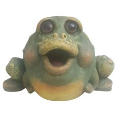 Whimsical Pete Apsit Frog/Toad figurine, Pete Apsit Character Collectibles Frog Follies