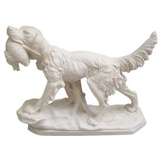 A. Santini Italian Hunting Dog Resin Composite Sculpture