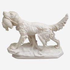 A. Santini Italian Hunting Dog Resin Composite Sculpture
