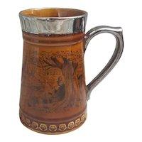 Vintage Lord Nelson Pottery England Tankard Fishing Scene Design 10-69