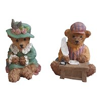 Home Interiors KK Bears, cute resin collectible bears