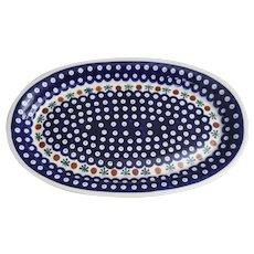 Beautiful Boleslawiec Handmade Polish Pottery platter Mosquito pattern