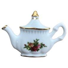 1962 Royal Albert Old Country Roses teapot ornament