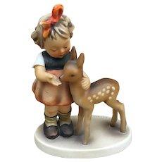 MJ Hummel W. Goebel Little Girl and Fawn Figurine