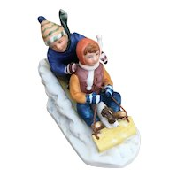 Downhill Race by Norman Rockwell 1983 figurine