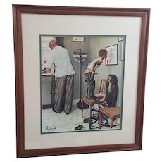 Norman Rockwell framed print The Doctors Office