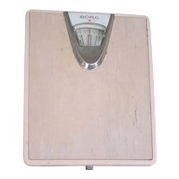 Cool retro vintage pink Borg bathroom scale