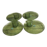 Beautiful Anchor Hocking Soreno Avocado green snack set set of four