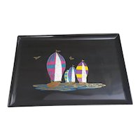 Couroc Giftware, Couroc of Monterey Ships tray