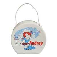 Little Audrey vinyl travel case,  1950's Harvey Famous Cartoons