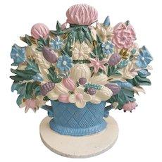 Fabulous cast iron flower bouquet door stop