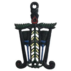 Cast Iron Grain and Tassel Trivet wall decor