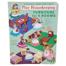 1961 Play Housekeeping Punch out book for girls