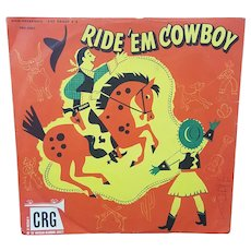 1950's CRG Ride Em Cowboy Children's Album