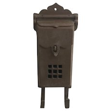Vintage cast metal mail box