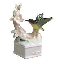 Beautiful porcelain Hummingbird musical figurine You've Got a Friend
