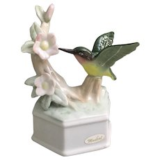 Beautiful porcelain Hummingbird musical figurine You've Got a Friend