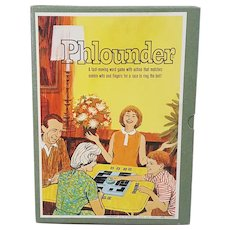 1962 Phlounder Game vintage word game