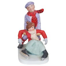 Norman Rockwell Skater figurine The Danbury Mint Collection 1989