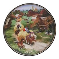 Bradford Exchange Village Life of Russia Series Bringing Home the Harvest Collectors plate