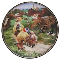 Village Life of Russia Series Bringing Home the Harvest Collectors plate, Bradford Exchange Russian Plate