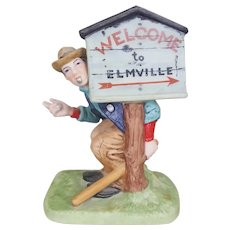 Norman Rockwell Speed Trap figurine The Danbury Mint Collection 1989