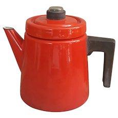 Finel Red Enamel Kettle Pehtoori Finland enamel coffeepot