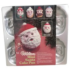 1983 Wilton Mini Santa Cake Pan