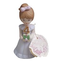 Enesco Growing Up Birthday Girls 4th Birthday figurine