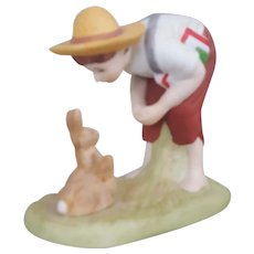 Norman Rockwell Springtime figurine The Danbury Mint Collection 1990