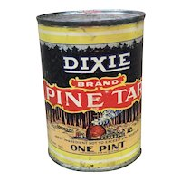Dixie Brand Pine Tar one pint unopened, vintage rustic decor