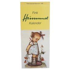 Hummel Postcard Calendar 1986 unused, Fink Hummel Kalender 1986