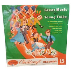 1950's Childcraft Record Great Music for Young Folks