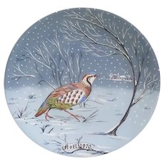 Haviland Limoges France A Partridge in a Pear Tree plate Number one