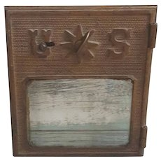 Turn of the Century glass front US Post office box door, Geo. L Lavery & Co