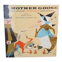 1958 Mother Goose record album with Boris Karloff