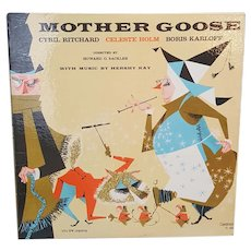 1958 Mother Goose record album with Boris Karloff