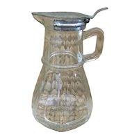 Antique Hazel Atlas syrup dispenser