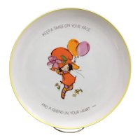 Super cute 1973 Mopsie Collectors Edition porcelain plate