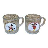 Fun and collectible Mickey Mouse glass coffee cups