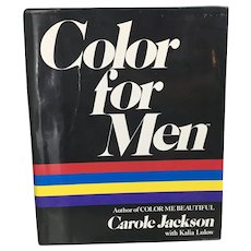 Color For Men First Edition 1984 by Carole Jackson Author of Color Me Beautiful