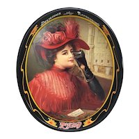 1987 Coca Cola Tray Lady In Red tray